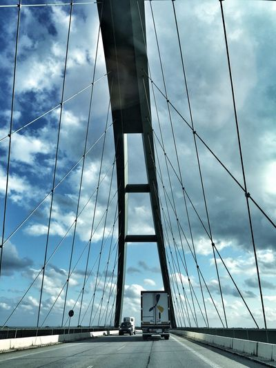 Architecture Bridge - Man Made Structure Built Structure Cable-stayed Bridge Cloud - Sky Connection Day Engineering No People Outdoors Sky Steel Cable Suspension Bridge Transportation Travel Adapted To The City Art Is Everywhere