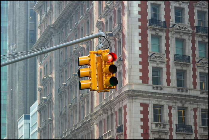 Yellow NYC traffic lights Architecture Building Exterior City City Life New York New York City No People Nyc Traffic Light Outdoors Traffic Lights Trafficlight New York Street Photography New York Photography Newyorkphotography