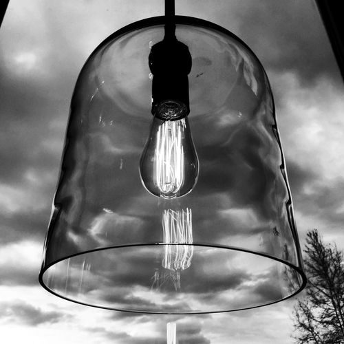 Glass lamp on