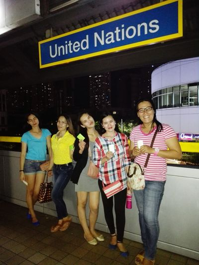 Experienced New Beep Card Lrt Station UnitedNation With Friends Exploring New Ground Enjoying The View HaveFun Quality Time Moreselfies