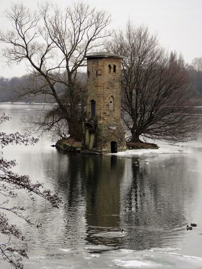Mäuseturm Architecture Bare Tree Beauty In Nature Building Exterior Built Structure Day Hagen Hengsteys Hengsteysee History Lake Mousetower Nature No People Outdoors Reflection Sky Travel Destinations Tree Water