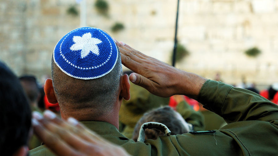 Israeli soldier military man saluting to the Western wall in Jerusalem. Western wall or Wailing wall or Kotel is the most sacred place for all jewish people. Salute Star Of David Adult Army Army Soldier Blue Celebration Citizenship Close-up Crowd Day Human Hand Idf Israel Kippah Magen David Men Military Military Uniform Outdoors Patriotism People Real People Saluting Yarmulke An Eye For Travel The Street Photographer - 2018 EyeEm Awards The Photojournalist - 2018 EyeEm Awards