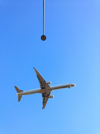In The Terminal Airplane Airport Lamppost Blue Sky Flight ✈ Traveling Travel Chicago Ohare