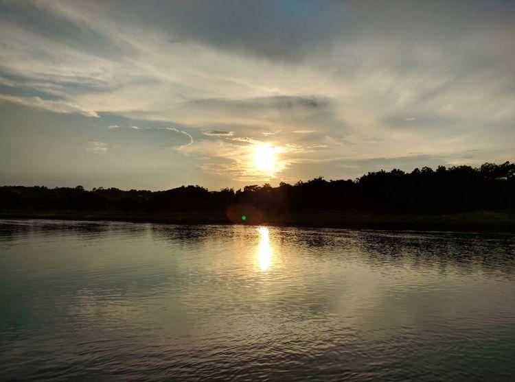 Pawleys Island South Carolina Sunset Creek Noedit Reflection
