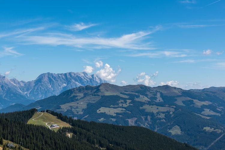Berge HDR Himmel Pinzgau Salzburger Land Schmittenhöhe Spätsommer  Wolken Zell Am See Steinernes Meer Österreich