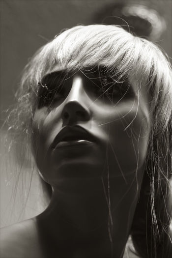 MANNEQUIN Hair Mannequin Shadows & Lights Beauty Blackandwhite Photography Close-up Female Representation Storefront