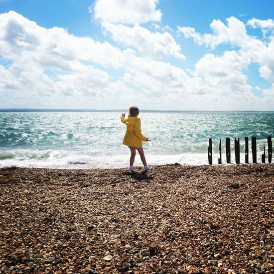 People And Places. People And Places Beach Rain Coat Southsea Skipping Stones