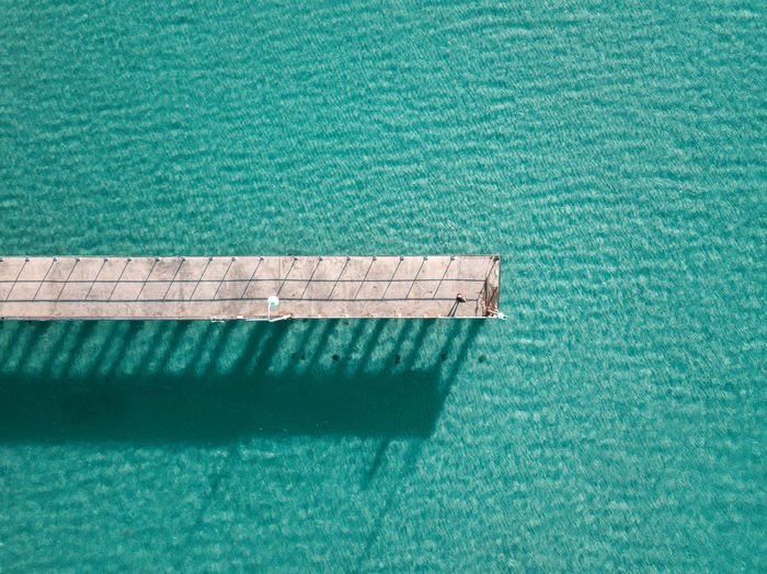 Pier Blue Close-up Day High Angle View Nature No People Outdoors Sea Water Waterfront