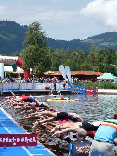 European Youth Triathlon Kitzbühel Swimming TRIATHLON Group Of People Tree Sky Water Day Crowd Nature Large Group Of People Real People Women