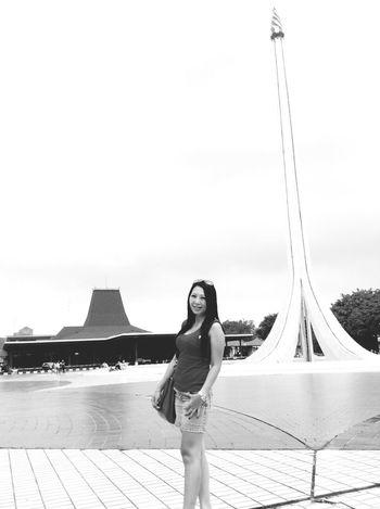 TMII Enjoying Life Black And White On A Date Nusantara