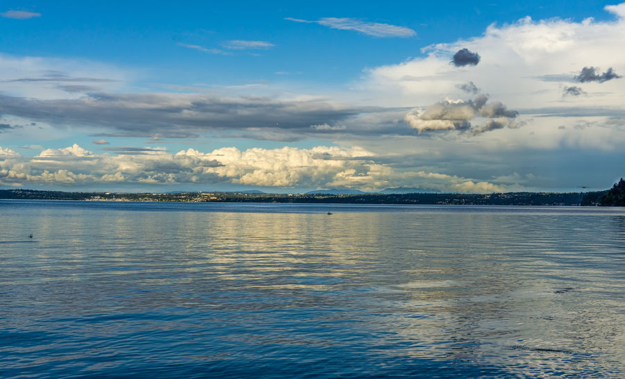 Clouds and sea landscape. Beauty In Nature Blue Cloud - Sky Dash Point Day Idyllic Landscape Nature No People Non-urban Scene Outdoors Reflection Rippled Scenics - Nature Sea Sky Sunset Tranquil Scene Tranquility Water Waterfront