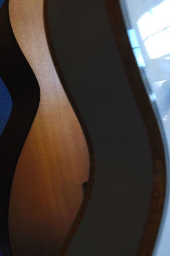 Arts Culture And Entertainment Close-up Curves Gretsch Gretsch Guitars Indoors  Luthier Music Musical Instrument No People Rock Music Shallow Depth Of Field Vintage Guitar