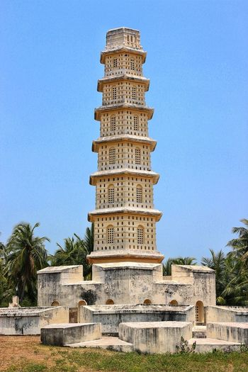 History Travel Destinations Clear Sky Architecture Building Exterior Blue Manora Fort Thanjavur Light House 18th Century