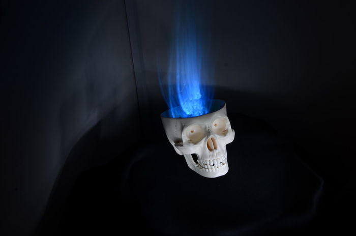 Lightpaintingphotography Lightpainting Calavera  Blue Flames Blue Flame Flame Skull Art Skull Lightpaintingseries Jugando Con La Luz