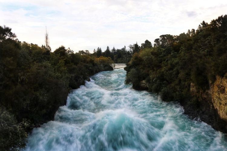 New Zealand Huka Falls Huka Falls, NZ Water Rapids White Water Rapids  White Water Blue colour of life Stormy Weather Stormy Sky Storm Clouds Sunset Nature No People Scenery New Zealand Scenery Tree Motion Plant Beauty In Nature Scenics - Nature Sky Day Flowing Water River Land Blurred Motion Outdoors Sport Forest Aquatic Sport Waterfront Flowing Power In Nature