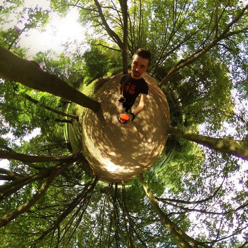 Low Angle View Tree Nature Looking At Camera Outdoors That's Me 360 Panorama Germany Herne
