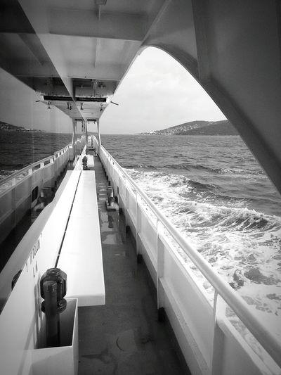 Sea Water Reflections Shades Of Grey Turkey Marmara Sea Boat Samsungphones S Mini S5mini