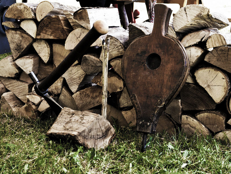 Axe Bellow Bellows Day Field Firewood Forest Grass Land Large Group Of Objects Log Nature No People Outdoors Stack Timber Wood Wood - Material