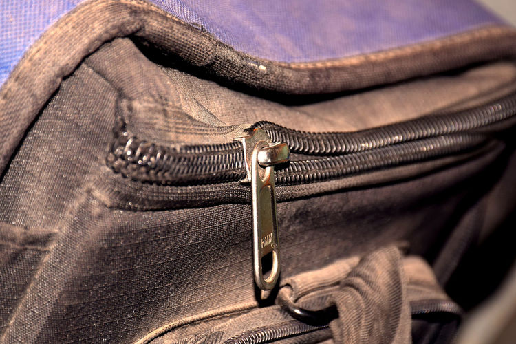 Close-up of chain on bag