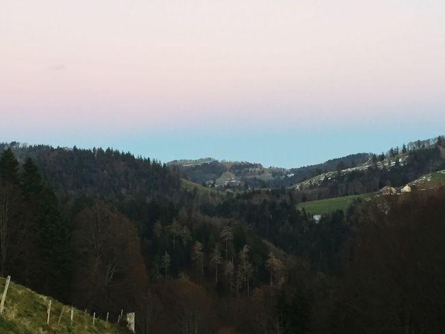 at Alp Scheidegg, Wald, Switzerland, atmospheric inversion, nature lover, autumn, colors, pristine nature, after sunset,