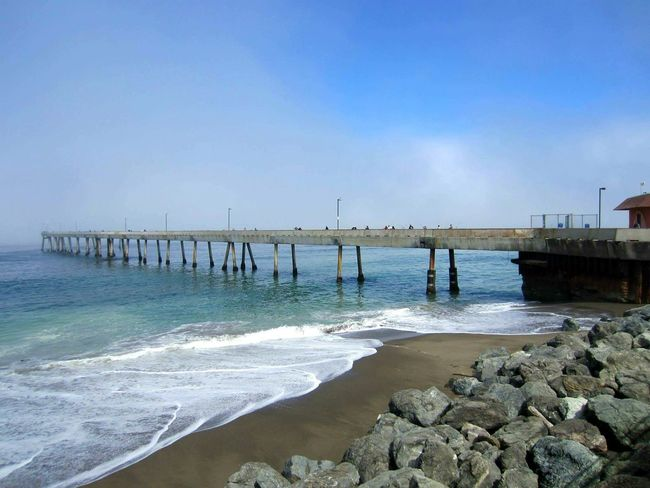 Sea Water Sky Beach Horizon Over Water Nature Outdoors Wave No People Day Tourist Tourism Vacations Sanfrancisco California USA Foggy Nature Scenics Travel Travel Destinations USA America Weather Tranquility