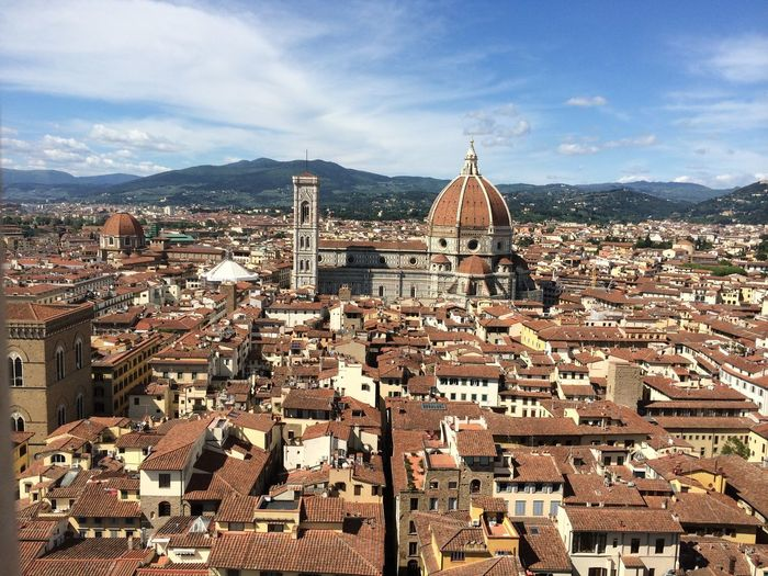 Florence Cathedral Amidst Residential Buildings