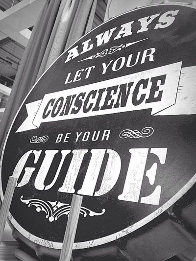 Conscience Quotes Blackandwhite Blackandwhite Photography 💙👉ALWAYS LET YOUR CONSCIENCE BE YOUR GUIDE 👈💙