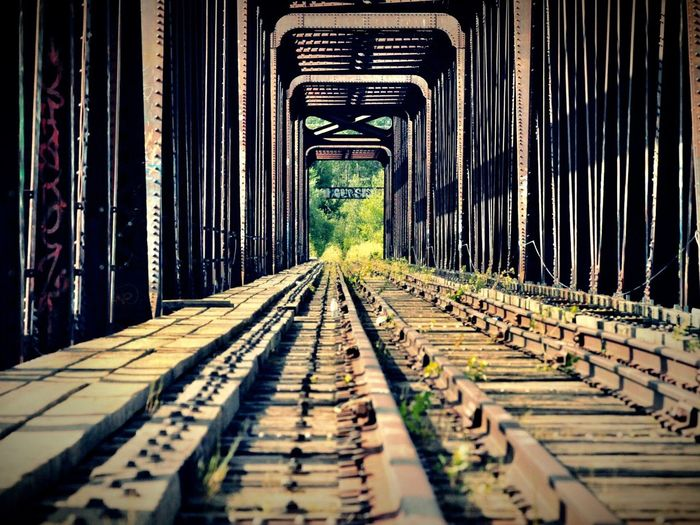 The Way Forward Railroad Track Transportation No People Built Structure Architecture Day Outdoors Canonphotography Photography Train Abandoned Abandoned Places Beauty In Nature Industrial Canon My Best Photo