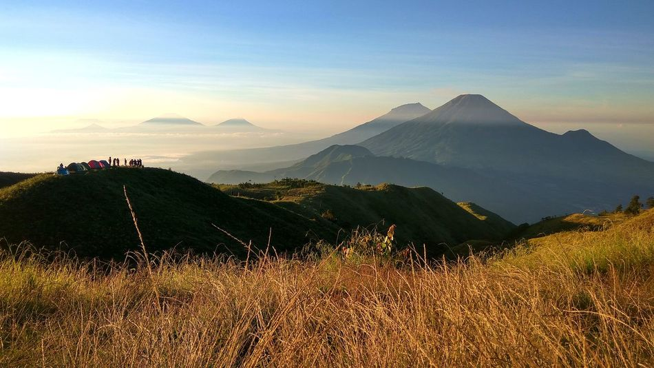Prau Mountain Java Beauty In Nature Centraljava Cloud - Sky Dieng Environment Grass Idyllic Land Landscape Mountain Mountain Peak Mountain Range Nature No People Non-urban Scene Outdoors Plant Praumountain Scenics - Nature Sky Tranquil Scene Tranquility Travel Travel Destinations