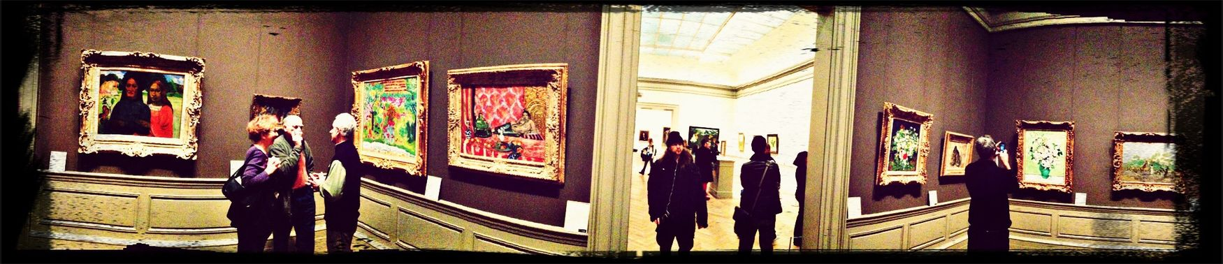 People watching people watching art at the met with a filter and magic wand Lovelovelove Discovering Great Works People Watching Eye4photography