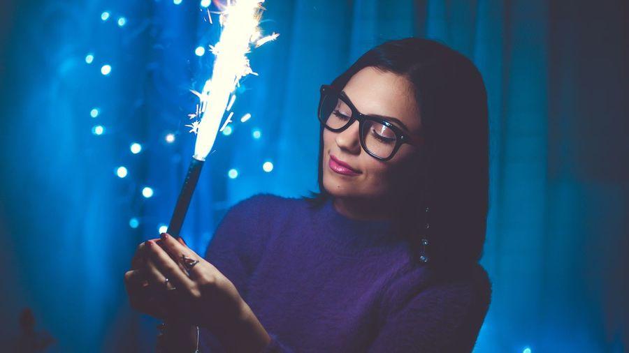 Close-Up Of Woman Celebrating