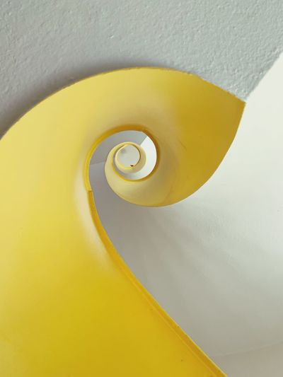 The Week on EyeEm ShotOnIphone EyeEm Selects Yellow No People Spiral Close-up Architecture Pattern Day Design Circle Shape Geometric Shape Detail