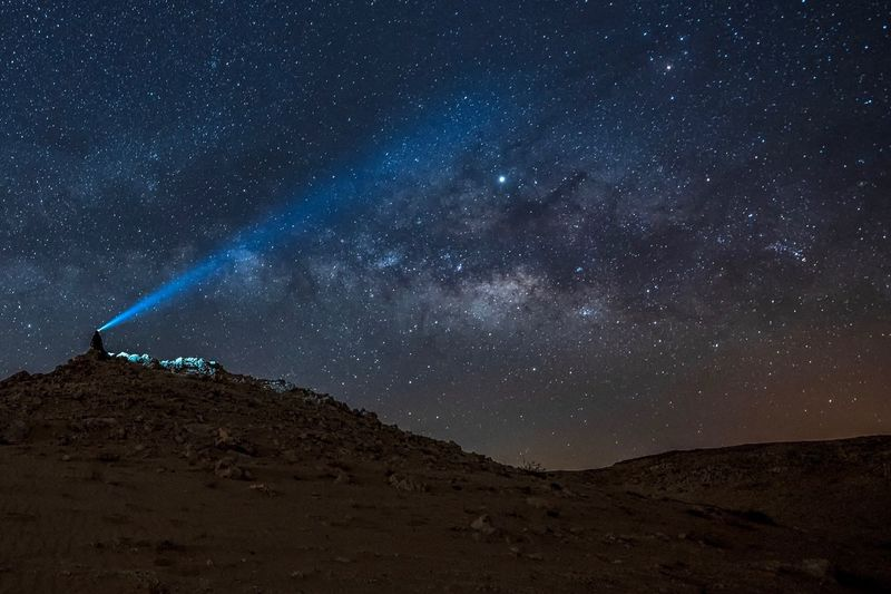 Milky Way Galaxy over QATAR desert Star - Space Astronomy Space Night Galaxy Sky Scenics - Nature Milky Way Science Nature Space And Astronomy Mountain Landscape Environment Beauty In Nature Dark Arts Culture And Entertainment Star No People