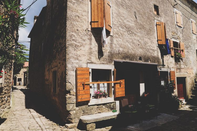 little village Groznjan Istria Village Croatia EyeEm Selects Built Structure Building Exterior Architecture Sunlight Shadow Day No People Building Wall House Old Wall - Building Feature