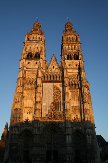 Low Angle View Of Tours Cathedral