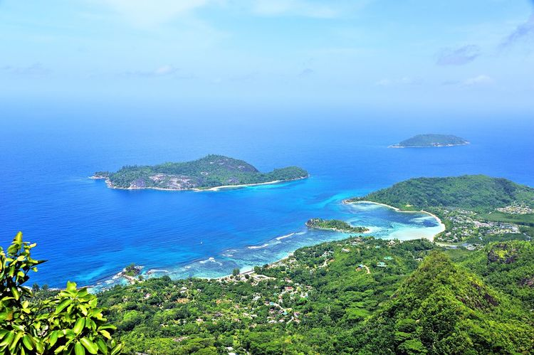 Small Islands Conception, Therese seen from Morne Blanc, Mahé, Seychelles Beach Blue Calm Coast Coastline Day Exotic Idyllic Island Islandlife Nature Non-urban Scene Ocean Outdoors Panorama Panoramic Remote Sea Seascape Tranquility Travel Tropical Vacations View Water