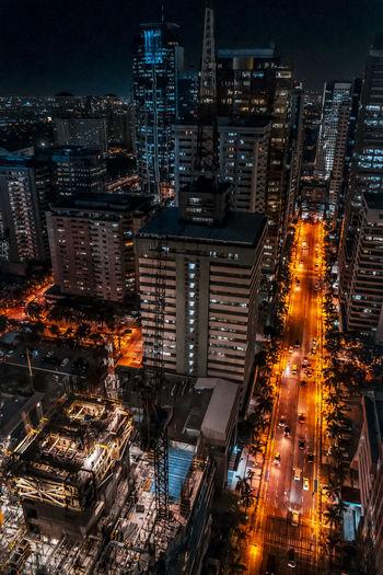 Concrete Jungle at night Night Illuminated No People City Outdoors Skyscraper Building Exterior Cityscape Architecture Sky