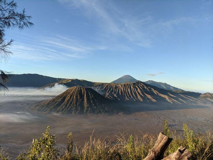 Panoramic view of mount bromo tengger semeru, indonesia