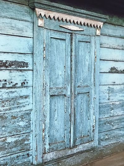 Door Entrance Wood - Material Built Structure No People Closed Full Frame Old Architecture Weathered Blue Protection