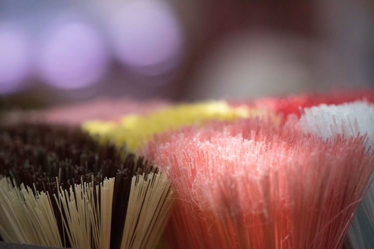 Bokeh Broom Brush Close-up Colors Day Detail Indoors  Large Group Of Objects Multi Colored No People