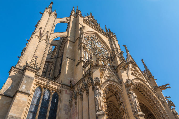 Metz Cathedral in France Cathedral France Metz Metz, France Architectural Column Architecture Belief Building Building Exterior Built Structure City Clear Sky France 🇫🇷 History Low Angle View Metz Cathedral Nature No People Ornate Place Of Worship Religion Sky Spirituality The Past Travel Destinations