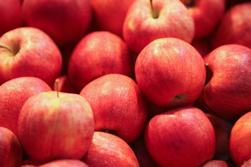 apple Apple Abundance Backgrounds Close-up Day Food Food And Drink Freshness Fruit Full Frame Healthy Eating Healthy Lifestyle Large Group Of Objects Market No People Outdoors Red Retail  Stack
