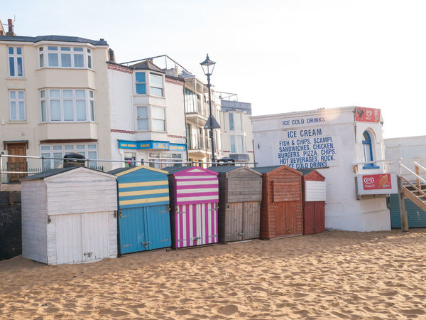 Broadstairs is a coastal town on the Isle of Thanet in the Thanet district of east Kent, England, about 80 miles (130 km) east of London Architecture Beach Huts Broadstairs Building Exterior Built Structure Colorful Day Multi Colored No People Outdoors Pink Color Purple Residential District Shore
