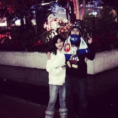 Yo y mi hermanita , que la deje solita en sus Xv pero la amo demasiado Rayados Rayado Monterrey Mexico xv years albiazul