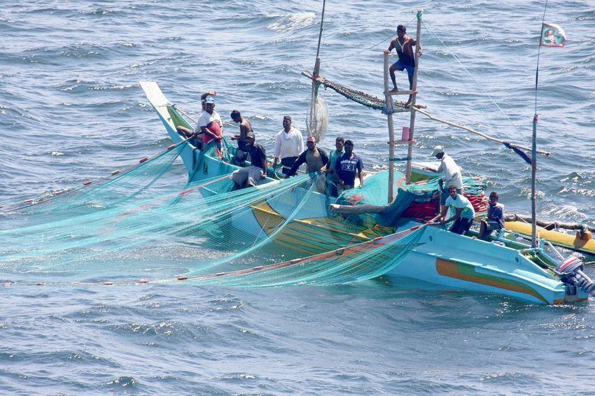 Indian Ocean Day Fisher Men Fishing Boat Large Group Of People Men Nature Nautical Vessel Outdoors People Sailing Sea Teamwork Transportation Water