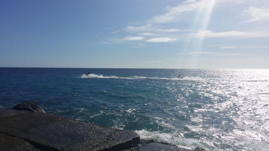 Jetski Water Sea Beach Blue Wave Sunlight Cityscape Seascape Coast