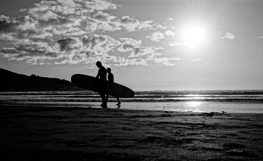 In the sun Raglan New Zealand Summer Surf Strangersinmyfeed Black And White