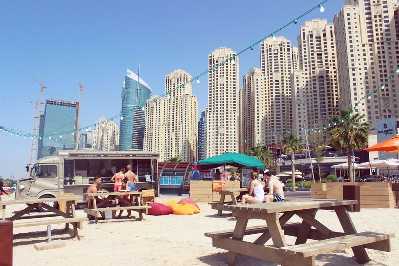 Dubai Dubai❤ Dubaicity Dubaimarina Jbr JBR Beach Beach Beachphotography UAE UAE , Dubai The Architect - 2016 EyeEm Awards Summer Sea Sand Food Streetfood Foodtruck Architecture Skyscraper Chilling Traveling Travel Photography Vacation Holiday Sunny Day