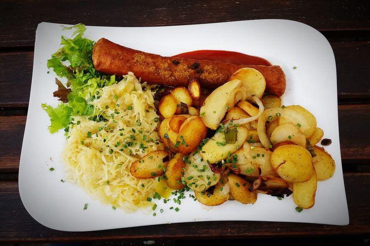 Currywurst Sauerkraut Berlinstagram Filipino Wanderlust Food Photography Foodgasm