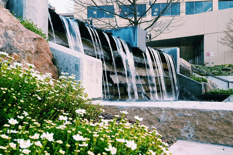 Water Outdoors Fountain